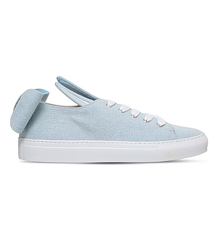 MINNA PARIKKA T-Bow bunny ears denim trainers (Denim