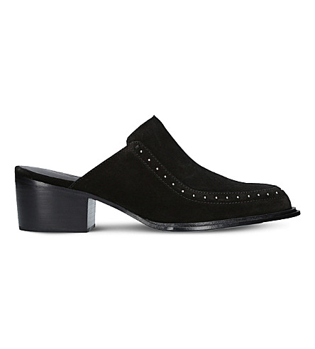 RAG AND BONE Weiss suede mules (Black