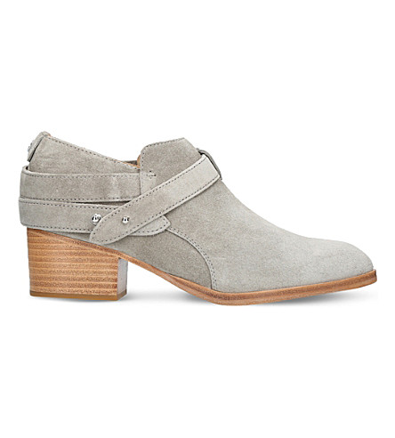 RAG AND BONE Harley suede ankle boots (Grey/light