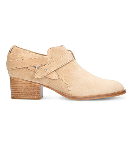 RAG AND BONE Harley suede ankle boots (Beige