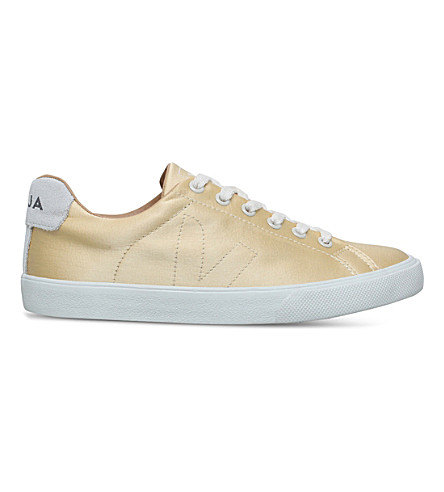 VEJA Bastille Esplar silk trainers (Gold