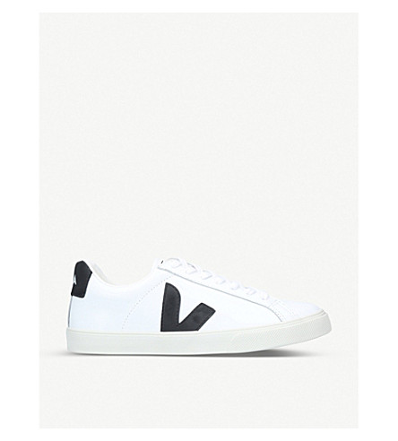 VEJA Esplar leather trainers (White/blk
