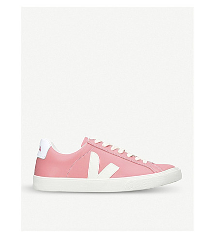 VEJA Esplar leather trainers (Pink