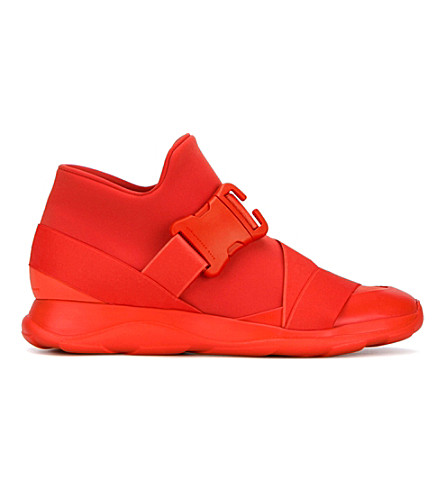 CHRISTOPHER KANE Safety Buckle Mesh Trainers (Red