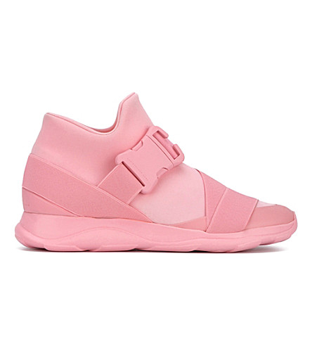 CHRISTOPHER KANE Safety Buckle Mesh Trainers (Pale pink