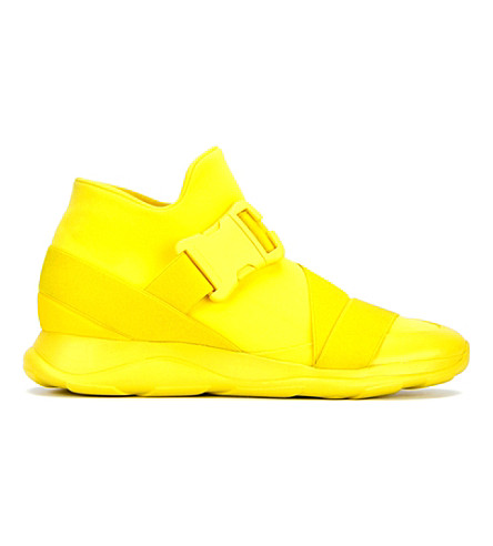 CHRISTOPHER KANE Safety Buckle Mesh Trainers (Yellow
