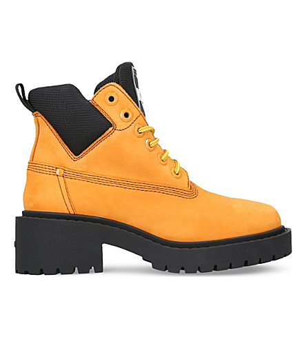KENZO Sierra nubuck-leather boots (Yellow