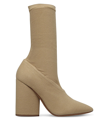 YEEZY Season 4 heeled sock boots (Beige