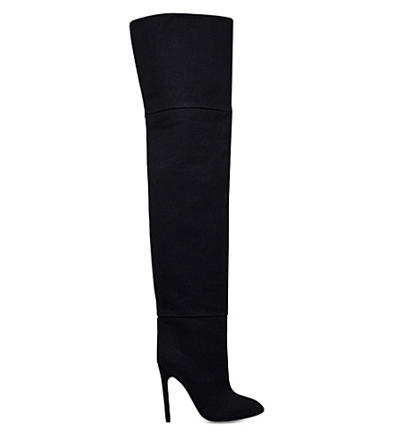 YEEZY Season 4 canvas over-the-knee boots (Black