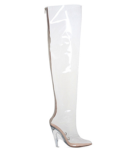 YEEZY Tubular PVC heeled knee-high boots (Other