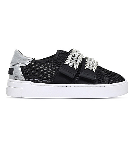 SUECOMMA BONNIE Stan embellished mesh trainers (Black