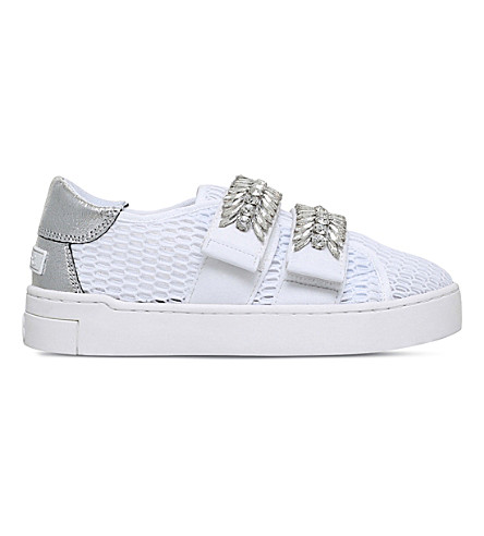 SUECOMMA BONNIE Stan embellished mesh trainers (White