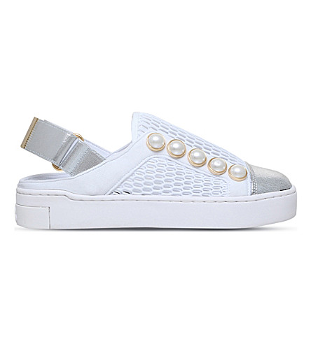 SUECOMMA BONNIE Stan open-back mesh sneakers (White