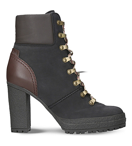 SEE BY CHLOE Eileen heeled leather hiking boots (Black