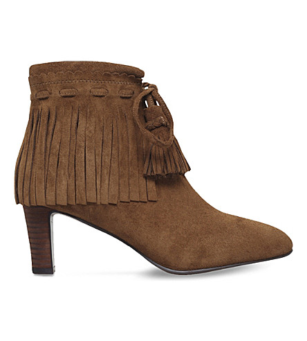 SEE BY CHLOE Irina fringed suede ankle boots (Tan