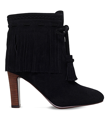 SEE BY CHLOE Irina fringed suede ankle boots (Black