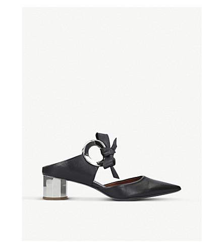 PROENZA SCHOULER 环领带皮革高跟鞋骡子 (或其他