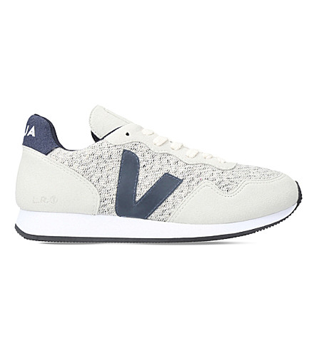 VEJA Santos Dumont flannel and suede trainers (Grey+mixed