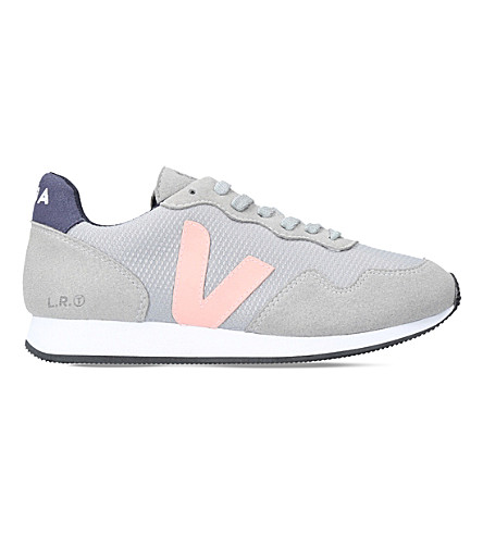 VEJA Santos Dumont mesh and suede trainers (Pale+blue