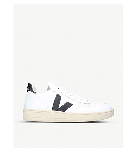 VEJA V-10 extra white leather trainers (White/blk