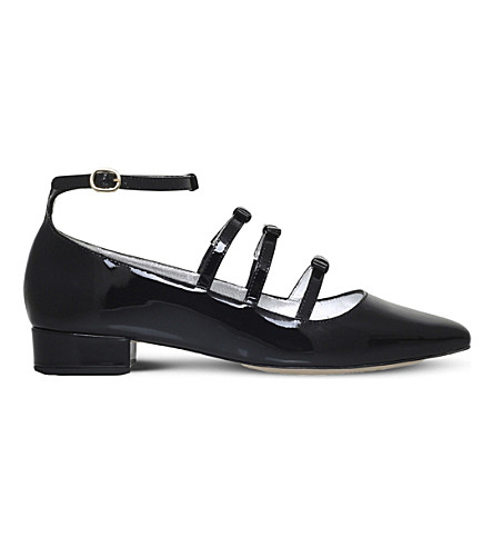 ALEXA CHUNG Bow patent-leather pumps (Black