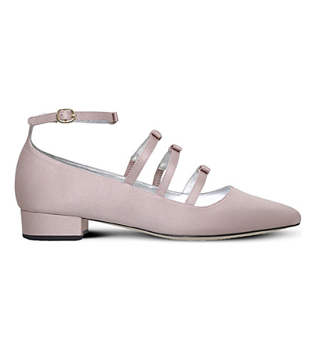 ALEXA CHUNG Bow square-toe pumps (Pale+pink