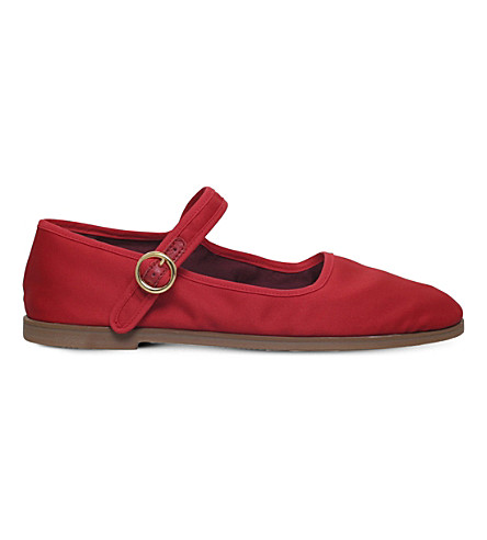 ALEXA CHUNG Mary-Jane fabric ballet pumps (Red