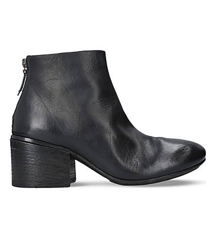 MARSELL Leather ankle boots (Black