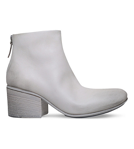MARSELL Leather ankle boots (Cream