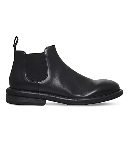 MARSELL Cheslea leather ankle boots (Black