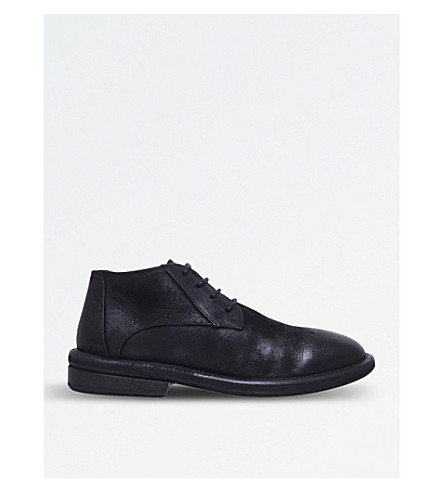 MARSELL Leather desert boots (Black
