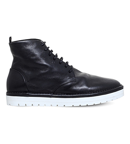 MARSELL Rubber sole mili boot (Black