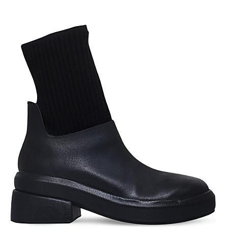 MARSELL Leather sock boots (Black