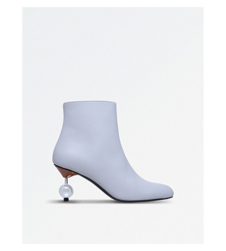 MARNI Pin-ball 102 leather ankle boots (Grey/light