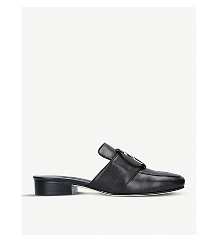 DORATEYMUR Petrol backless leather loafers (Black