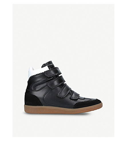 ISABEL MARANT Bilsy leather wedge trainers (Black