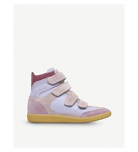 ISABEL MARANT Bilsy leather wedge trainers (Lilac