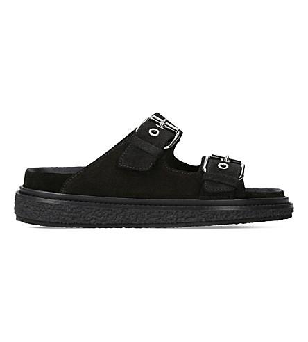 ISABEL MARANT Ledkin suede sandals (Black