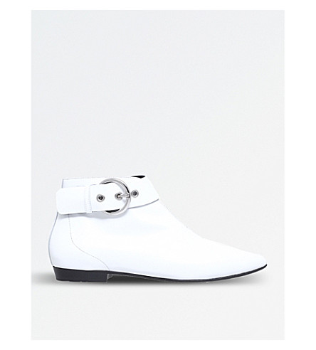 ISABEL MARANT Rilows leather ankle boots (White
