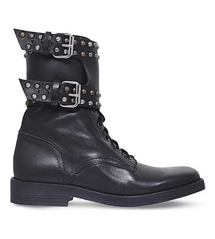 ISABEL MARANT Teylon leather boots (Black