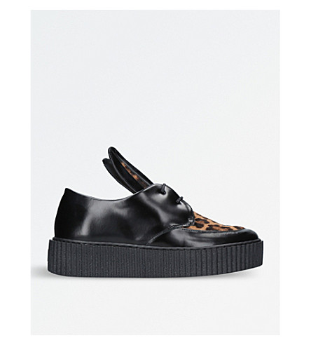 MINNA PARIKKA Bunny leather creepers (Blk/other