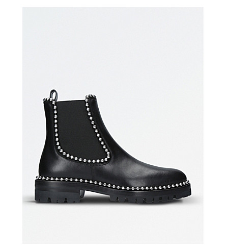 ALEXANDER WANG Spencer studded leather Chelsea boots (Black