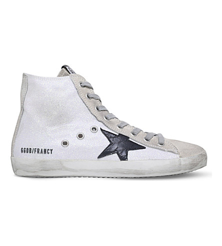 GOLDEN GOOSE Francy leather trainers (White/oth