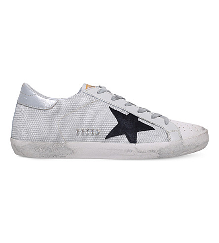GOLDEN GOOSE Superstar c39 mesh and leather trainers (White/oth
