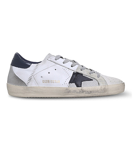 GOLDEN GOOSE Superstar C41 leather trainers (White/blk