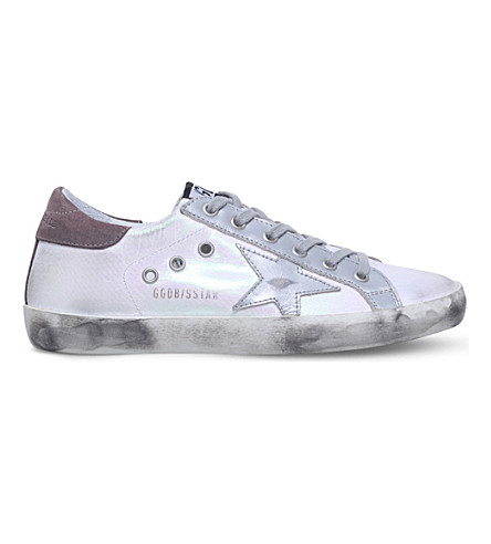 GOLDEN GOOSE Superstar C44 leather trainers (Metal+comb