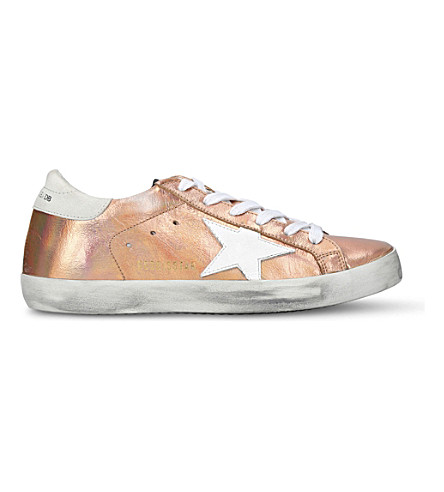 GOLDEN GOOSE Superstar c56 metallic-leather trainers (Bronze