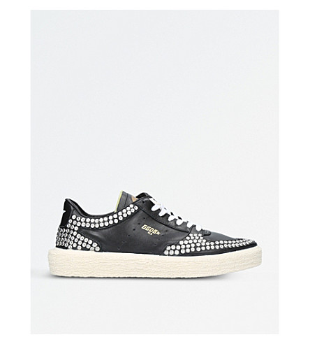 GOLDEN GOOSE Tenthstar A8 studded leather trainers (Blk/other