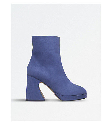 SIES MARJAN Gretta nubuck-leather ankle boots (Navy