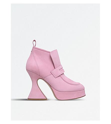 SIES MARJAN Ellen nubuck-leather boots (Pale+pink